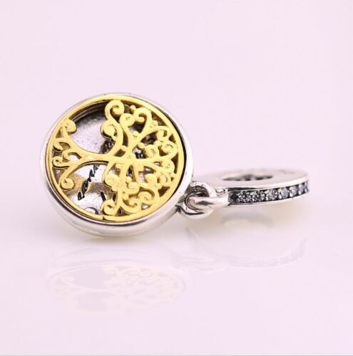 Authentic.925 Sterling Silver European Style Fit PAN BRACELET CHARM TREE OF LIFE