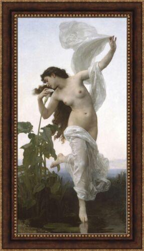 "V09-29 William-Adolphe Bouguereau Dawn Framed Canvas Giclee Print 27/""x48.5/"""