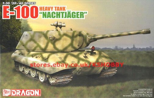 Dragon 6011X 1 35 German E-100 Heavy Tank  Nachtjager