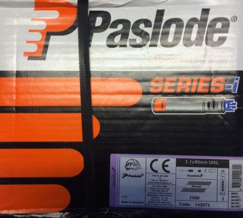 PASLODE Streifennägel Galv-Plus + 2 Gas Patronen, 142072, 3,1x90mm UNIL