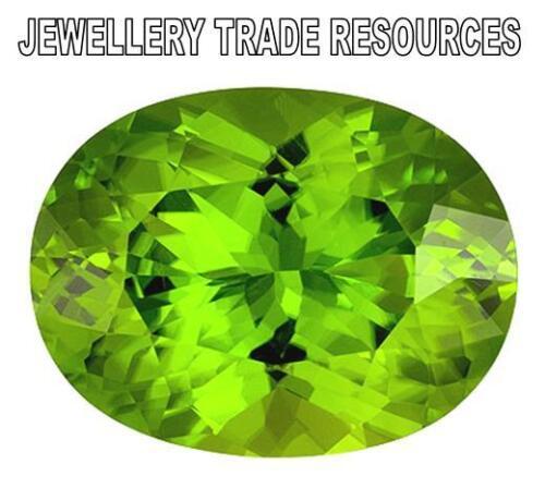 14mm X 12mm Oval Corte Piedra Preciosa Gema Natural Verde Peridoto