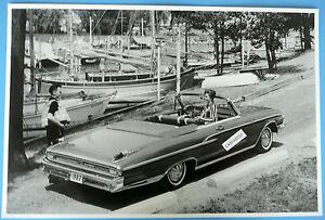 12-By-18-034-Black-amp-White-Picture-1962-Mercury-Monterey-Custom-Convertible