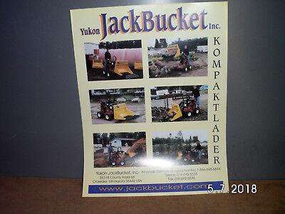 Aufstrebend Yukon Jack Bucket Kompaktlader Anbauschaufel 2 Seiten Prospekt Alt&rar