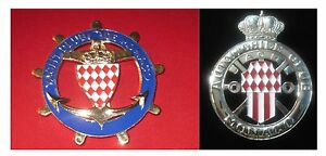 Yacht Club De Monaco set Of 2pcs Car Grill Badge Emblem Enamled Logos Badges & Mascots