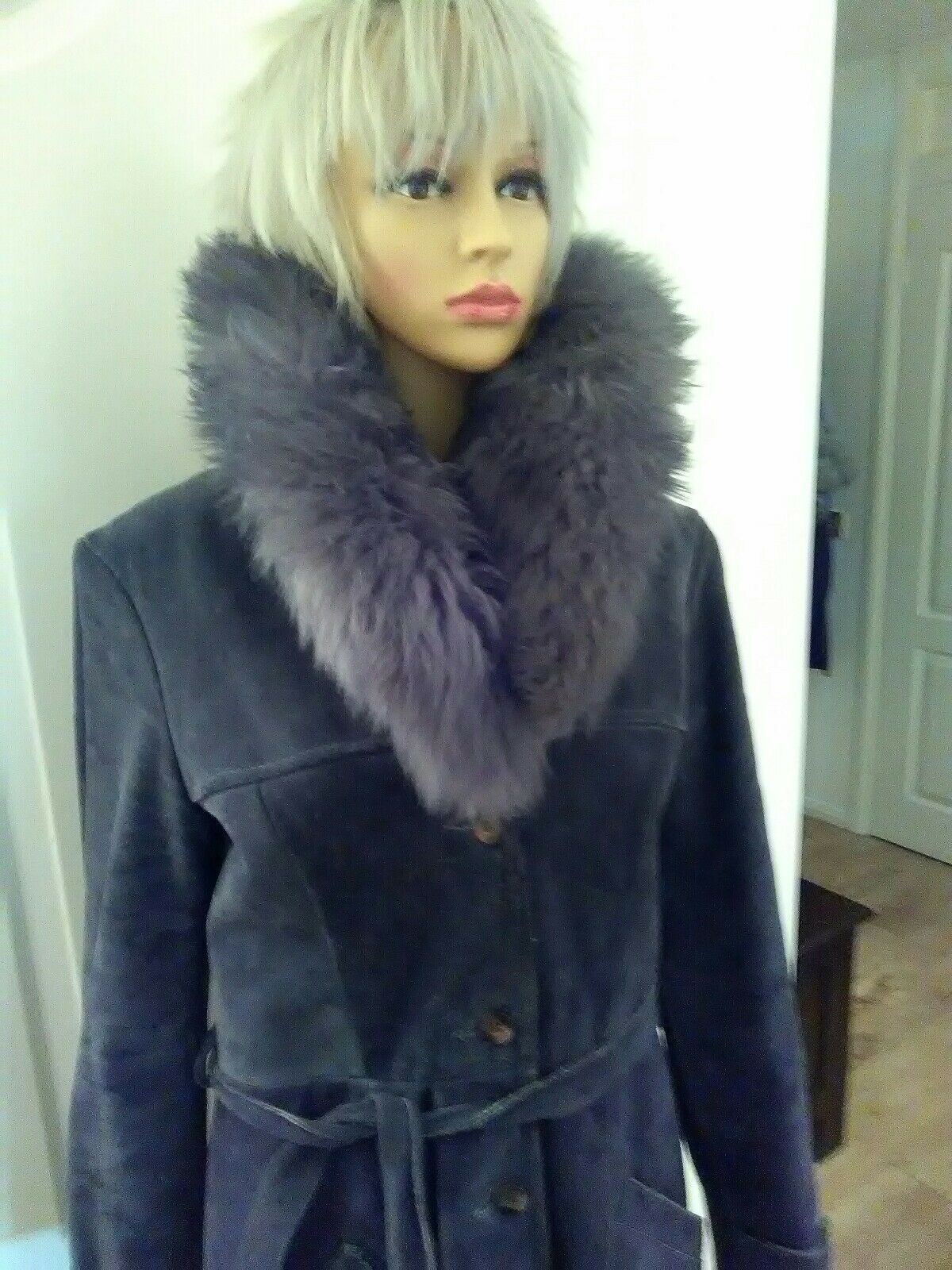 STUNNING IMMACULATE,REAL VINTAGE SUEDE  COAT SIZE 12 REDUCED BYOFF, NOW