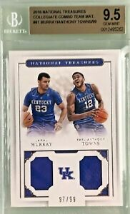 Jamal-Murray-amp-Karl-Anthony-Towns-2016-National-Treasures-Rookie-Combo-BGS-9-5