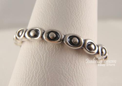 bea08e05f 2 of 3 CELEBRATION 100% Genuine PANDORA Sterling Silver BAND Stackable Ring  9/60 NEW