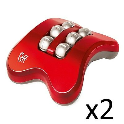 Foot Massager JML BFF Mini Booster Relief Feet Electric Rolling Vibration Red x2
