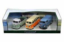 CARARAMA 1:43 VOLKSWAGEN SAMBA BUS VAN T1 PICKUP 3 PIECES SET DIECAST CAR 35308