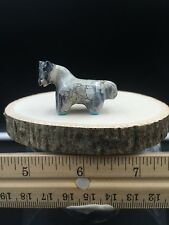 Zuni Fetish/Leopard Stone Horse/Hayes Leekya/Turq Hooves/Zuni Carving #H230