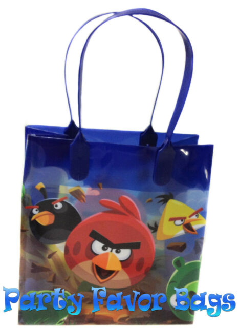 12 Pcs Angry Birds Party Favor Bags Candy Treat Birthday Loot Gift Durable Bag