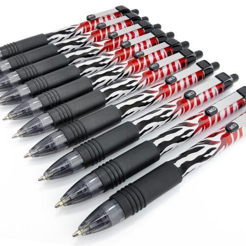 10 X Zebra Z-Griff Smooth Schwarz Einziehbar Kugelschreiber Flamme Design