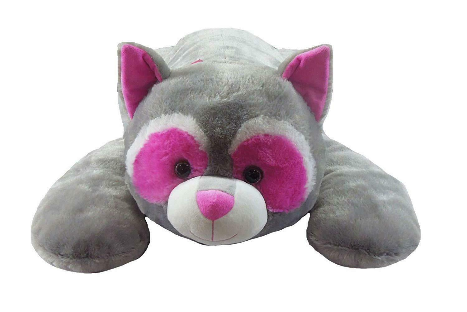 Jumbo Lying Raccoon Plush, Super Soft Stuffed Animal, 39