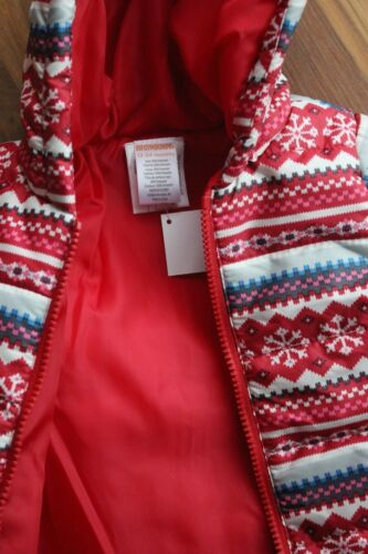 Winter Coat Gymboree Hooded Fair Isle Poof School Girl size 12-24 Months New