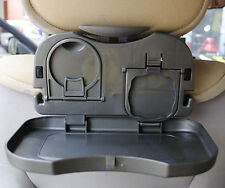 Folding Auto Car Back Seat Table Drink Food Cup Tray Holder Stand Desk Black
