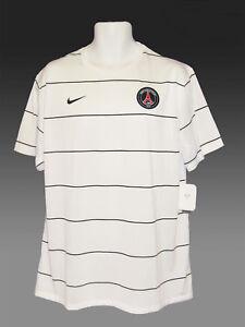 new products bfef3 e59da Details about New NIKE PSG Paris Saint-Germain FOOTBALL Training Pre Match  Shirt White XXL