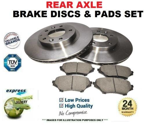 Rear Axle BRAKE DISCS and BRAKE PADS SET for KIA VENGA 1.4 CVVT 2010-/>on