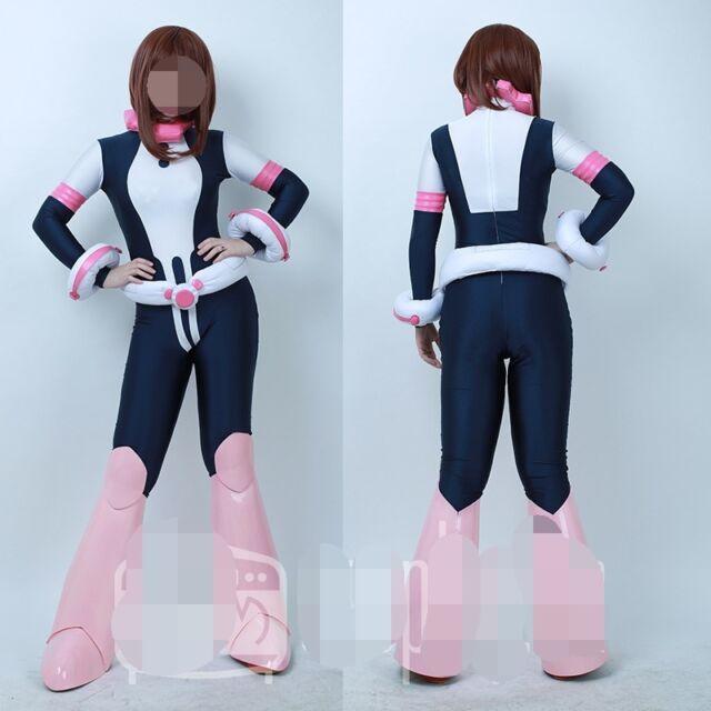 My Hero Academia Paro Ochako Uraraka Outfit Hooded Cloak Dress Cosplay Costume
