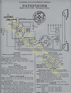 details about saxon 1915 a b 1916 model 14, 4 cyl car wiring diagram electric system specs 318 Aircraft Wiring Diagrams