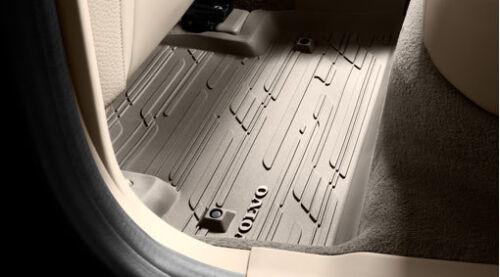 Rubber Genuine Volvo Floor Mats Off-Black Volvo 39828878