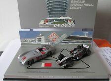 F1 1/43 MERCEDES W196 FANGIO & MCLAREN MP4/14 MERCEDES COULTHARD MINICHAMPS
