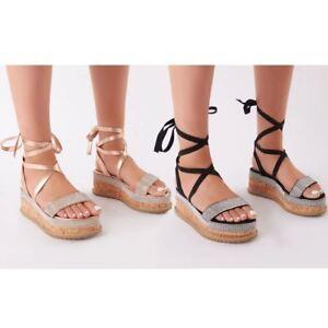 Womens Ladies Flatforms Sandals