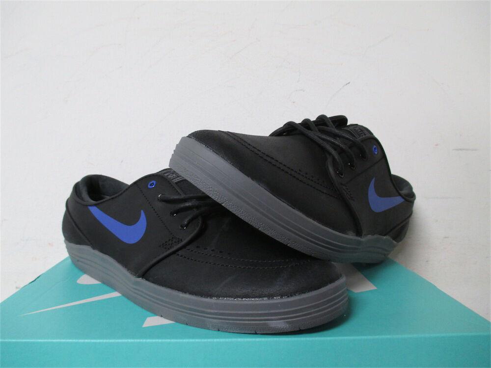 Nike SB Lunar Janoski Black Game Royal Cool Grey Sz 9 654857-040