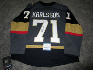 new products c81a7 75382 Details about WILLIAM KARLSSON Vegas Golden Knights SIGNED Stanley Cup 18  JERSEY w/ BAS COA M
