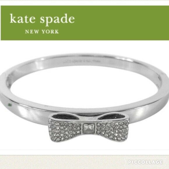 d1219046671 Kate Spade Ready Set Bow Silver Bangle Bracelet O0ru1566 for sale online |  eBay