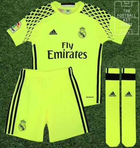 calzini REAL MADRID AWAY Portiere Kit-Ragazzi adidas Football Kit-shirt pantaloncini