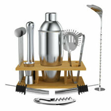 14 Pcs Cocktail Shaker Bar Set Stainless Steel Bartender Kit Accessories Tools