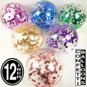 Lot-de-100-confettis-ballons-latex-12-034-decors-Air-Helium-Fete-D-039-anniversaire-Mariage-UK