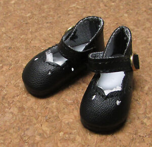 93617e733ed39 Details about Doll Shoes, 65mm BLACK Girl Dressy for 16