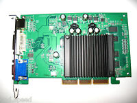 Nvidia Geforce 512mb Agp 4x 8x Single Slot Video Graphics Vga Card Vga+dvi+hdtv