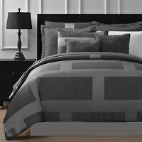 Frame Jacquard Microfiber 8-piece Full Queen & King Comforter Set In Gray