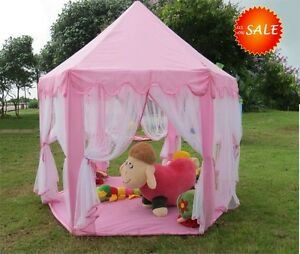 Image is loading Tent-Playhouse-Canopy-Princess-Castle-Kids-Girls-Toys- & Tent Playhouse Canopy Princess Castle Kids Girls Toys Play House ...