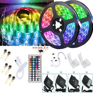 10M-32-8-Feet-RGB-5050-Waterproof-LED-Strip-light-SMD-44-Key-Remote-12V-Kit