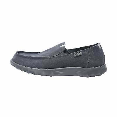 Hey Dude Shoes Mens Farty Roughcut Night Blue Canvas Slip On Mule