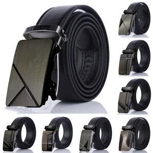 Business-Men-039-s-Automatique-Boucle-Leather-Ratchet-Belt-Strap-Jeans-Ceinture