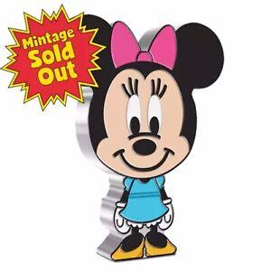 2021 Niue Disney Minnie Mouse Chibi 1oz .999 Silver Proof Coin Mintage 2,000