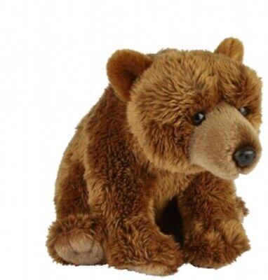 FRS007BE SOFT CUDDLY REALISTIC TEDDY RAVENSDEN SOFT TOY BROWN BEAR PLUSH 15CM