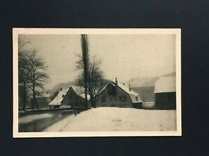 Postcard-Antique-Saar-Winter-Im-Grumbachtal