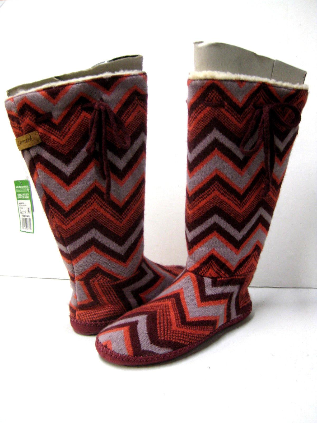 Sanuk Acurrucarse botas botas botas Mujer Borgoña Muiti Chevron EE. UU. 6  el más barato