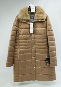 Details zu Basler Damen Winter Jacke Mantel Parka Kunstfell Kragen braun Gr. 48 NEU #1924