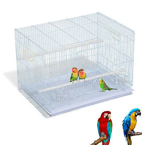 "PROMOTION 30"" Metal Bird Cage Transport Wire Carrier Pet Play House W/ Tray"