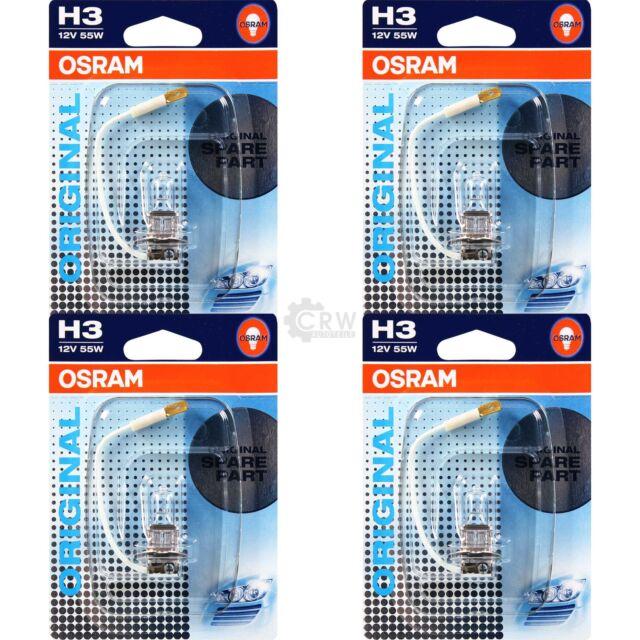 4x OSRAM halógeno-lámpara h4 set original line 55w//12v bombilla de luz de posición