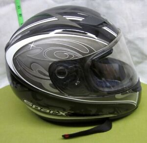 Sparx Med Motorcycle Helmet Ece 22 05 Dot Black Gray Royal Arms Of England Lions Ebay