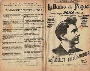 Ancienne-Partition-la-Dame-de-Pique-Dona-a-l-039-Eldorado-1901