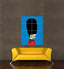 POSTER PRINT GIANT PAINTING ILLUSTRATION SCOTS GUARD BEARSKIN SOLDIER PAMP093