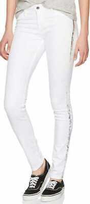 Collezione Qui Jeans Cross Adriana Super Skinny Jeans Donna Pantaloni Jeggings Pantaloni Jeans Bianco Nuovo-mostra Il Titolo Originale Per Spedizioni Veloci